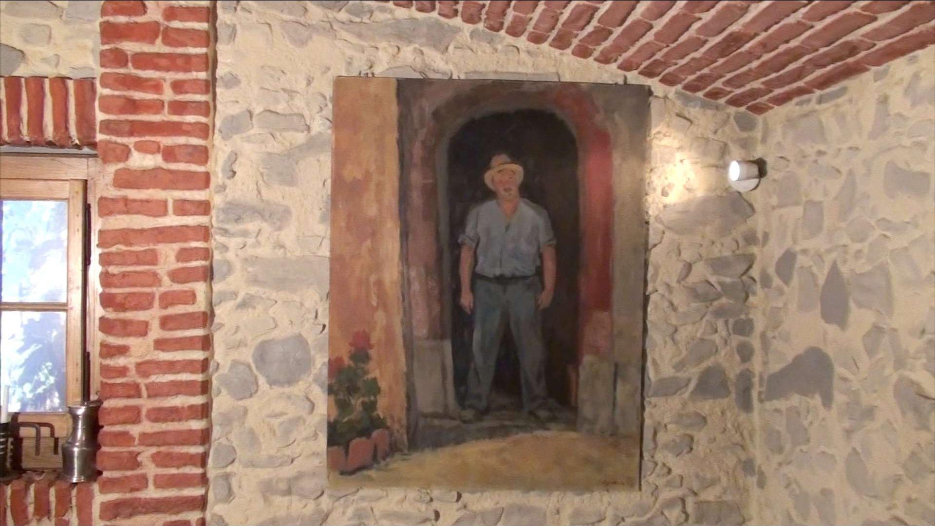 Peinture Grand père Cave Berthet